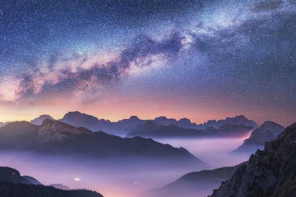 Milky Way over the Dolomites