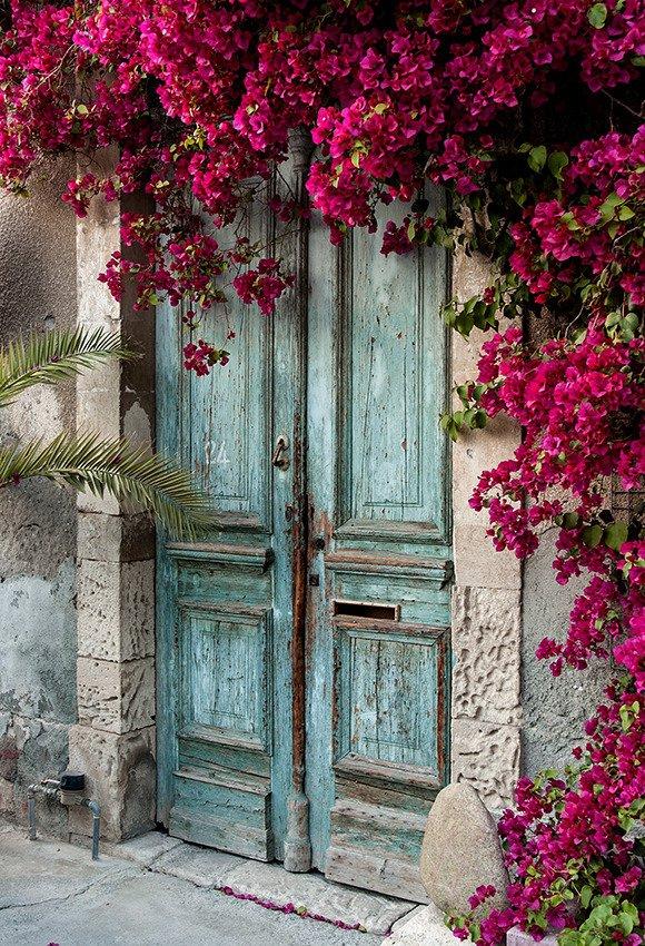 Turkusowe drzwi